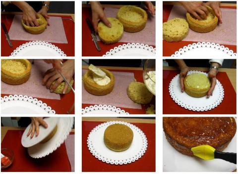Torta con pasta di zucchero farcitura