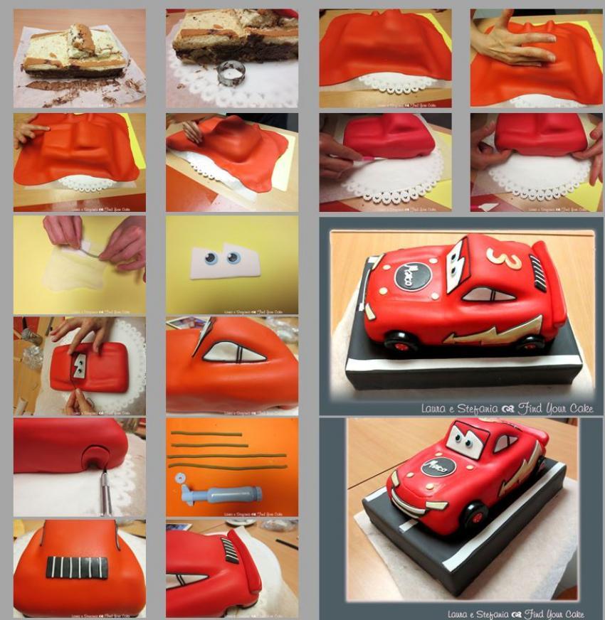 Cake Decoration Procedure : Cars Find Your Cake