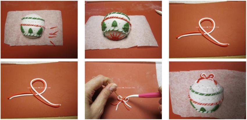 Palline per l albero di natale in pasta di zucchero find for Decorazione zuccotto