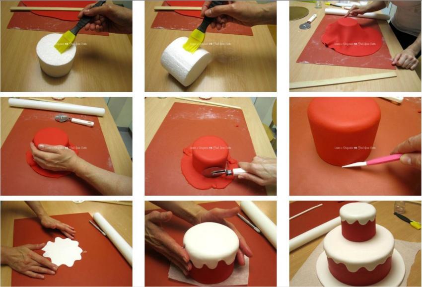 Torta dummy a due piani con albero di natale find your cake for Design a due piani