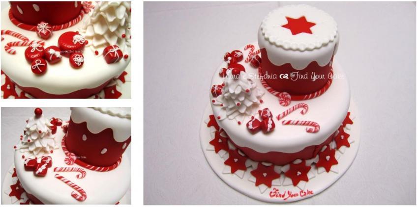 Torta dummy a due piani con albero di natale find your cake for Piani domestici di base