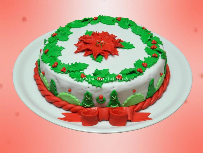 Torta con la stella di natale find your cake - Decorazioni torte natale ...