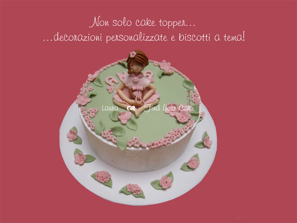Set Cake Topper e decorazioni Bambolina sul prato_01_EDIT