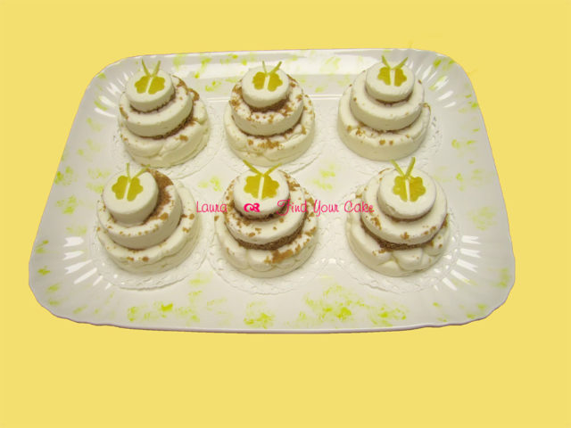 Mini cheese lemon cakes