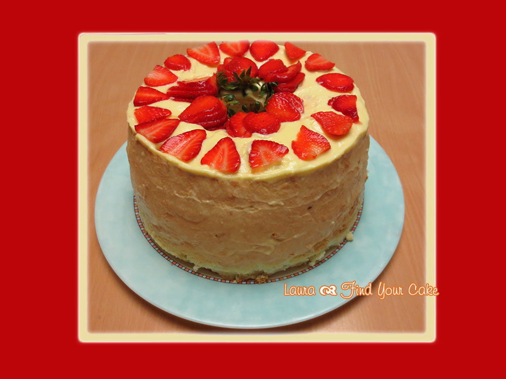 Chiffon Cake With Strawberries And Cream Recipe — Dishmaps